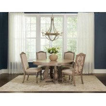 Ilana Traditional Round Formal Five-piece Dining Table Set