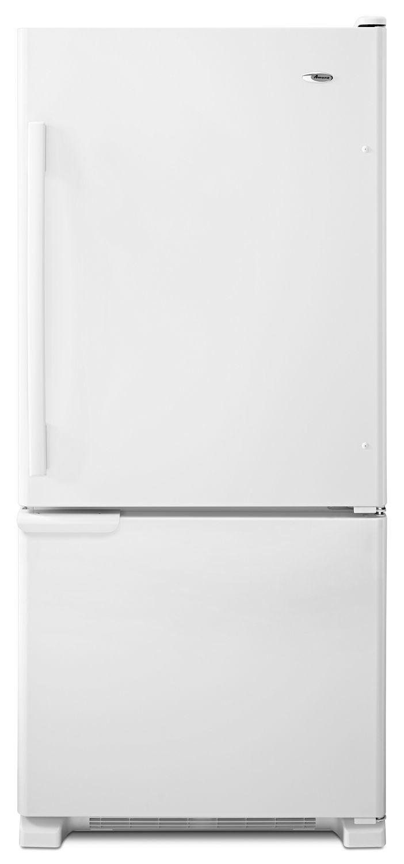 Amana29-Inch Wide Bottom-Freezer Refrigerator With Garden Fresh Crisper Bins -- 18 Cu. Ft. Capacity White