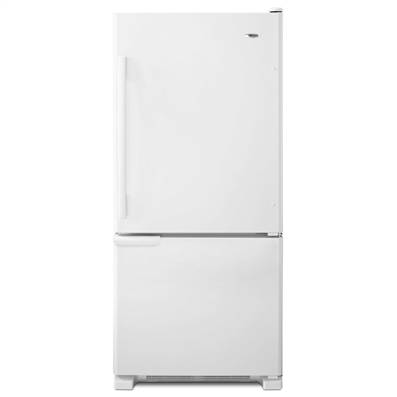 29-inch Wide Bottom-Freezer Refrigerator with Garden Fresh Crisper Bins -- 18 cu. ft. Capacity White