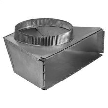 """10"""" Round Rear Transition for Range Hoods and Bath Ventilation Fans"""