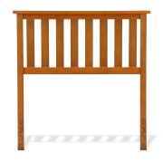 Belmont Wooden Headboard Panel with Slatted Grill Design, Maple Finish, Twin Product Image