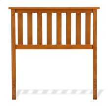 Belmont Wooden Headboard Panel with Slatted Grill Design, Maple Finish, Twin