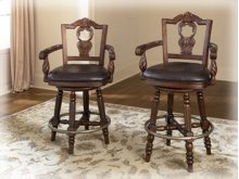 "Tall Upholstered Swivel Barstool 30""- North Shore Collection"