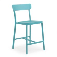 0244 Stackable Counter Stool (Turquoise)