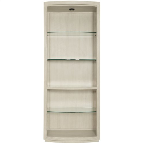 East Hampton Display Curio in Cerused Linen (395)