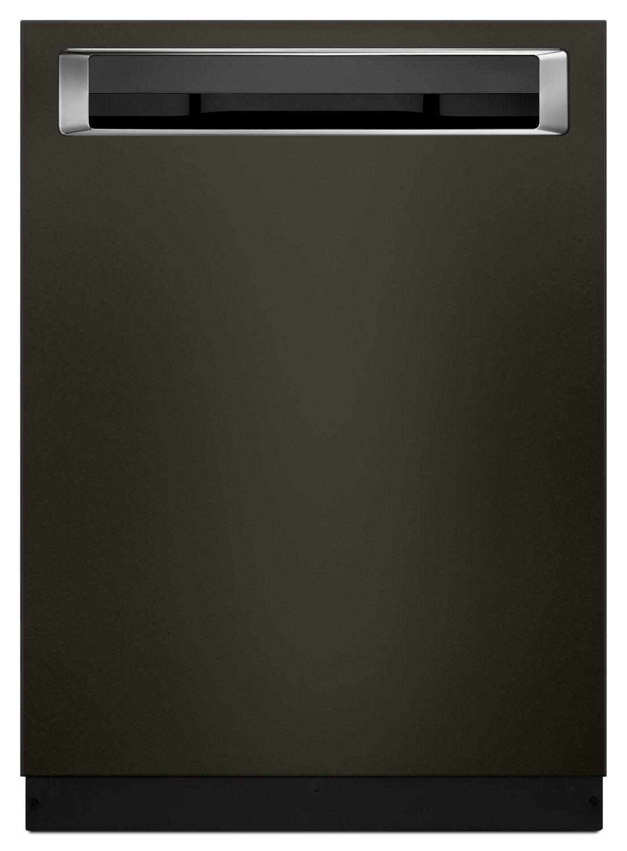 39 DBA Dishwasher with Fan-Enabled ProDry System and PrintShield Finish, Pocket Handle Black Stainless Steel with PrintShield™ Finish Photo #1