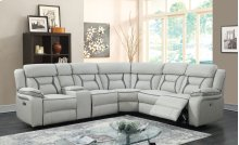 Leo Two-Tone Leather Gel Reclining Sectional