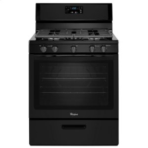 5.1 cu. ft. Freestanding Gas Range with Five Burners - BLACK