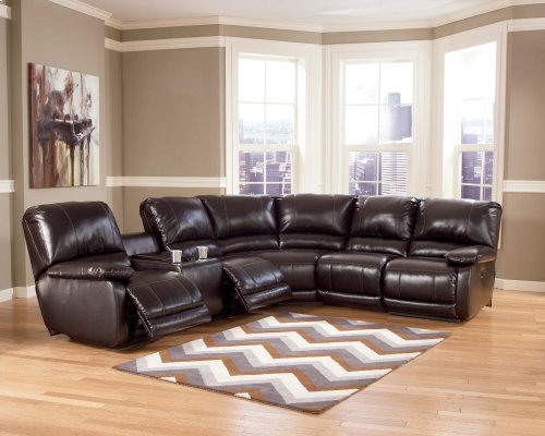 4-Piece Ashley Sectional with LAF Console Loveseat