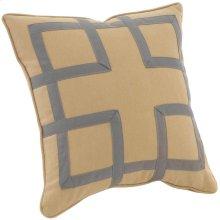 "Custom Decorative Pillows Fretwork (21"" x 21"")"