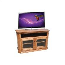"O-TF297 Traditional Oak 48"" Clipped Corner TV Console"