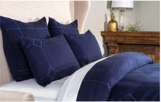Heirloom Indigo Duvet 3Pc Queen Set