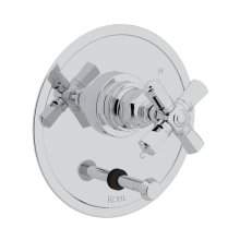 Polished Chrome San Giovanni Pressure Balance Trim With Diverter with Cross Handle