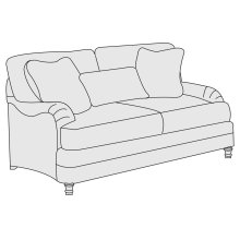 Tarleton Loveseat in Brandy (703)
