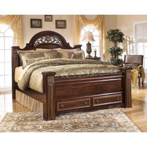 Ashley Furniture Gabriela - Dark Reddish Brown 4 Piece Bed Set (King)