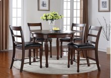 ZBRG8090 Breckenridge Round Pub Set ; Table & 4 Chairs