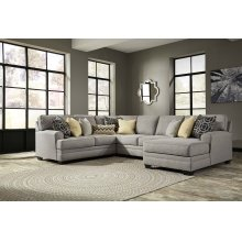 Cresson - Pewter Right Chaise, Armless Loveseat, Left Loveseat, Wedge