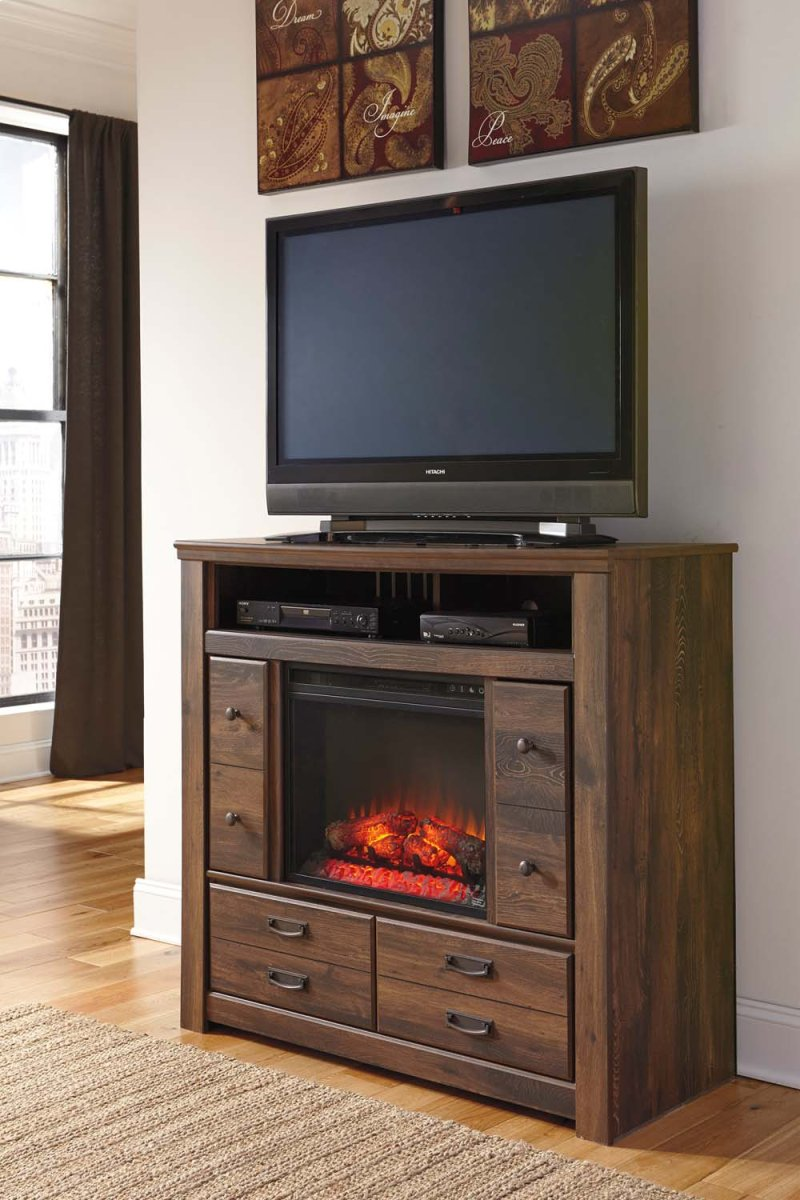 B246b10 In By Ashley Furniture In Central Point Or Quinden Dark Brown 2 Piece Bedroom Set