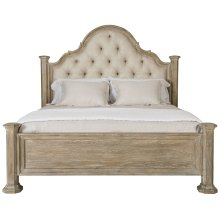 King-Sized Campania Upholstered Panel Bed in Weathered Sand (370)