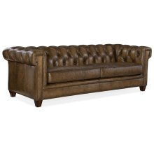 Living Room Chester Tufted Stationary Sofa