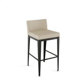Ethan Non Swivel Stool With Quilted Fabric