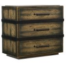 Bedroom Crafted Three-Drawer Nightstand Product Image