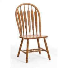Classic Oak Detailed Arrow Side Chair