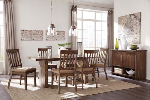 Zilmar - Medium Brown 7 Piece Dining Room Set