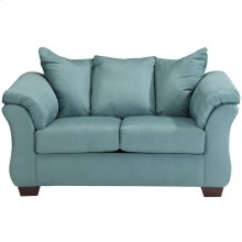 Signature Design by Ashley Darcy Loveseat in Sky Microfiber
