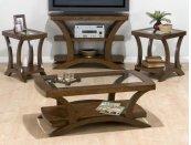 Chairside Table W/ Shelf - Glass Top