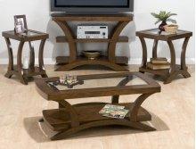 Sofa Table/media Unit W/ 2 Shelves - Wood Top