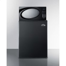 Refrigerator-microwave Combination In Black With Compact Auto Defrost All-refrigerator
