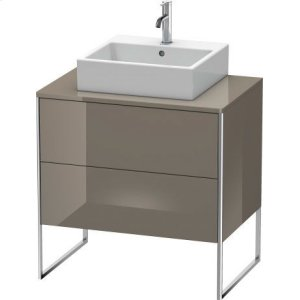 Vanity Unit For Console Floorstanding, Flannel Gray High Gloss Lacquer