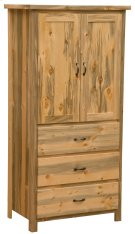 Blue Stain Three Drawer Armoire with Adjustable Shelving - Premium Line Product Image