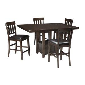 AshleySIGNATURE DESIGN BY ASHLEYHaddigan - Dark Brown 5 Piece Dining Room Set