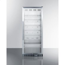 Mid-sized Pharmaceutical All-refrigerator With Stainless Steel Construction Inside and Out, Digital Controls, and Self-closing Glass Door