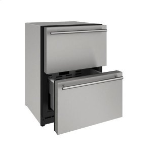 """U-Line24"""" Refrigerator Drawers With Stainless Solid Finish (115 V/60 Hz Volts /60 Hz Hz)"""