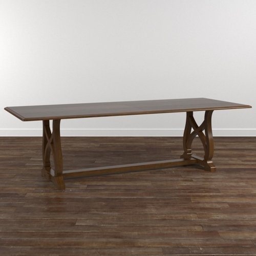 "Custom Dining 79"" Table with Wood Base"