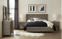 Bedroom Annex Queen Panel Bed w/ Storage Footboard Product Image