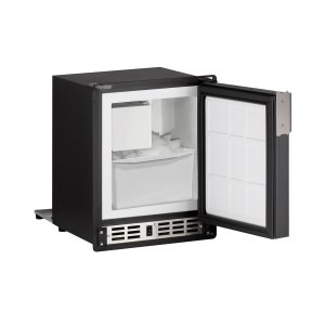 "U-LineMarine Series 15"" Marine Crescent Ice Maker With Black Solid Finish and Field Reversible Door Swing (115 Volts / 60 Hz)"