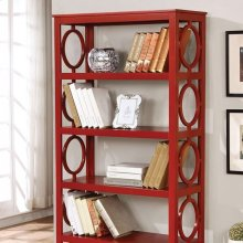 Zoey Display Shelf, Red
