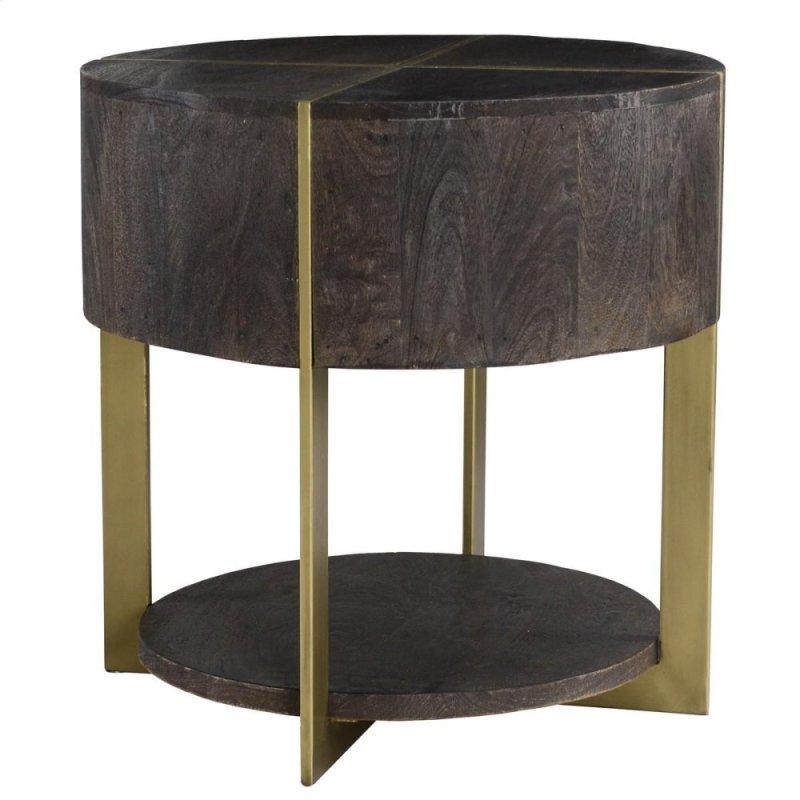 Desmond Round End Table 24 Espresso