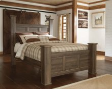Juararo - Dark Brown 3 Piece Bed Set (Queen)