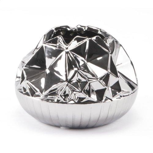 Line Vase Sm Silver