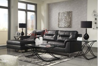 Tensas Sectional Black Left