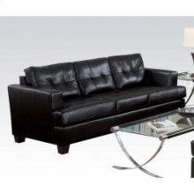 Black Bonded Leather Sofa