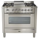 """36"""" - 5 Burner, Single Oven w/ Griddle in Stainless Steel Product Image"""