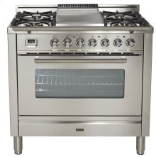 "36"" - 5 Burner, Single Oven w/ Griddle in Stainless Steel"