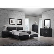 Enzo Black Full Headboard