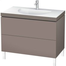 Furniture Washbasin C-bonded With Vanity Floorstanding, Basalt Matt (decor)